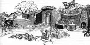 Интерьер саманного дома